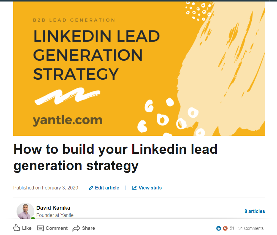 linkedin article branding